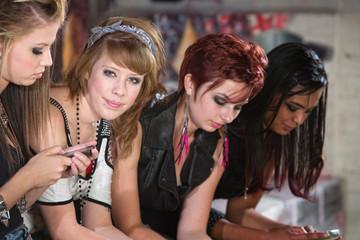 Four Cute Teenagers