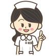 看護師 指差し
