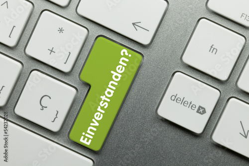 Einverstanden tastatur