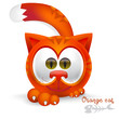 Cute orange cat cartoon