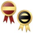 2 Vorlagen - Qualitätssiegel schwarz und rot