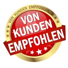 """Button mit Banner """" VON KUNDEN EMPFOHLEN """""""