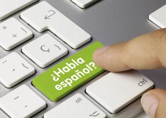 ¿Habla español? Tastatur Finger