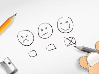 Nachricht Abstimmen Bewerten Smiley Ja Nein vielleicht abhaken