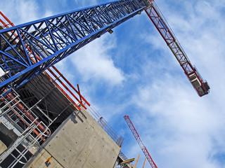 immeuble en construction,grue,chantier en cours à chambéry