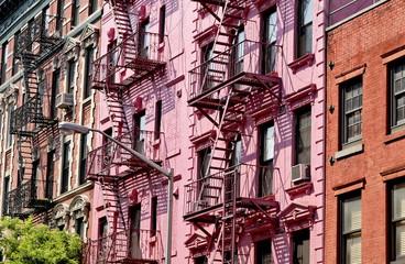 escalier de secours sur façade ancienne New York