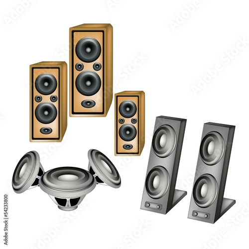 A Set of Speaker on White Background
