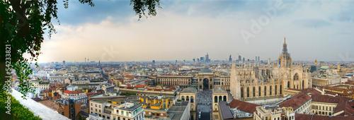 Fotobehang Milan Milano panoramica centro