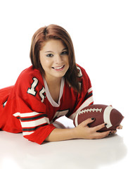 Pretty Football-Loving Teen