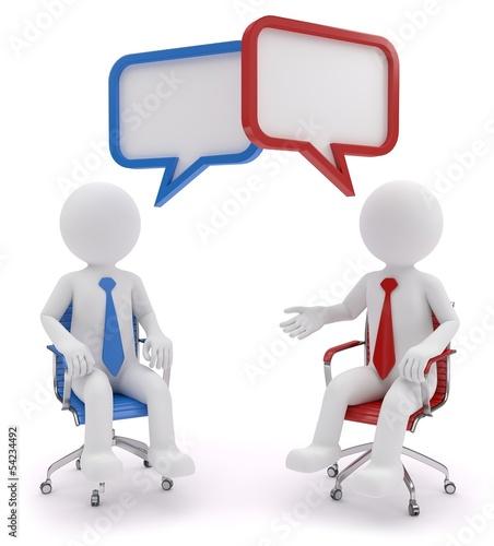 zwei Stühle eine Meinung