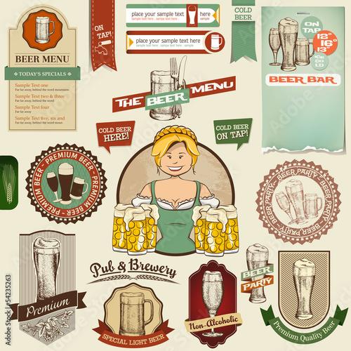 Bier Icons, Labels, Signs, Symbols