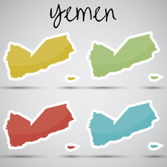 stickers in form of Yemen