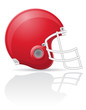 american football helment vector illustration