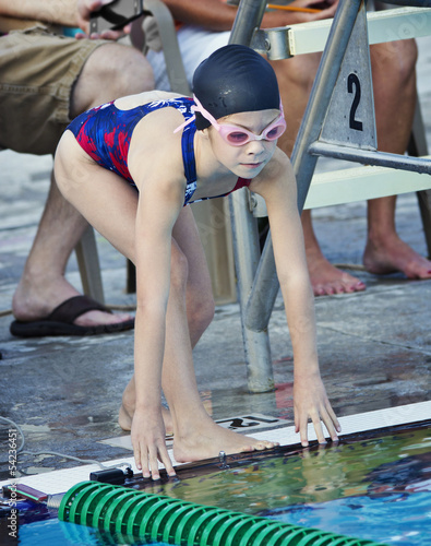 Young Swimmer Ready to Race