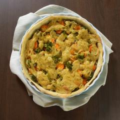 Quiche mit Brokkoli und Karotten