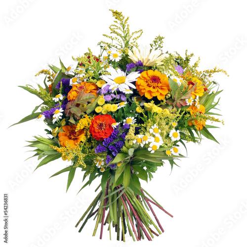 Deurstickers Madeliefjes Blumenstrauß aus dem Bauerngarten