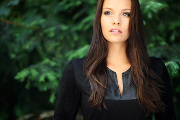 attraktive Frau im Portrait