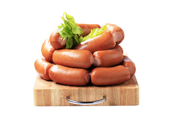 Pile of sausages