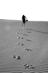 leaving footpints in the desert