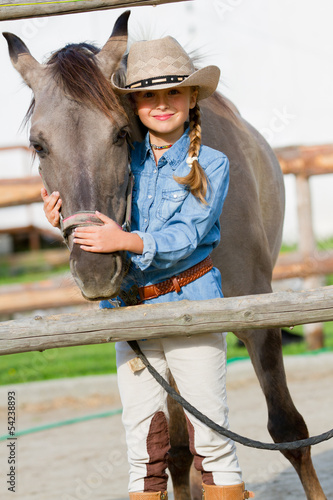 Ranch - girl and horse