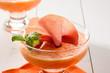 Mousse di melone e prosciutto crudo