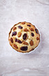 Yeast cake with dried cranberry and white mulberry