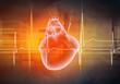 Human heart beats