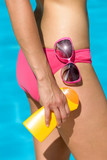 Suntan lotion for summer skin care
