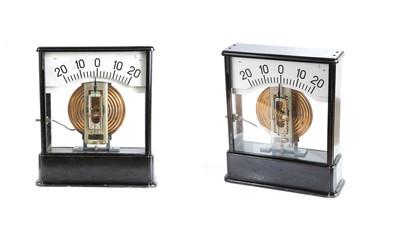 analog ammeter isolated on white background