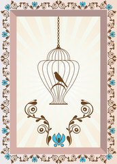 Bird in Cage Background