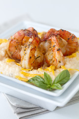 Cheesy Shrimp and grits_eye level