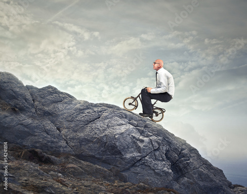 pedaling uphill