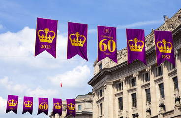 Royal Diamond Jubilee Banners in London