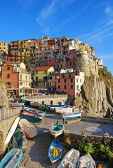 View of Manarola. Manarola is a small town in Cinque terre