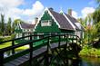 Typical Dutch houses. Zaandam, Holland