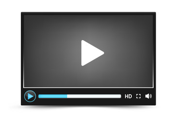 Dark skin vector video player interface