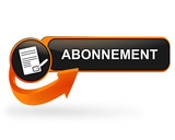 abonnement sur bouton web design orange