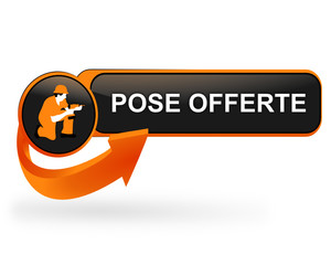 pose offerte sur bouton web design orange