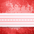 Retro red colored wall with lace