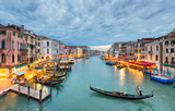 Grand Canal view at night, Venice - 54244611