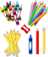 school supplies isolated