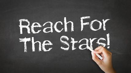Reach for the stars Chalk Illustration