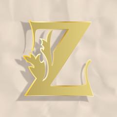 Vintage initials letter z