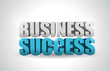 business success text illustration design