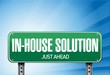 inhouse road sign illustration design