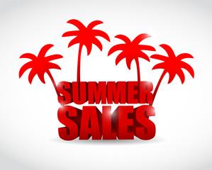 summer sale sign illustration design