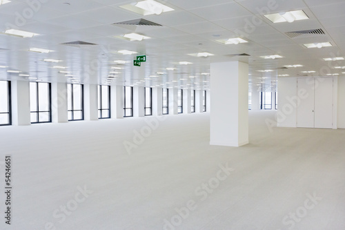 Empty open-plan office area