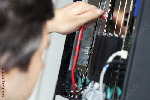 Telephone Switchboard - Plugging In