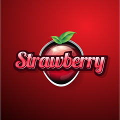 Strawberry vintage sign or button