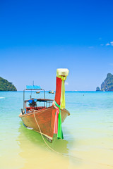 Long tail boat in Andaman sea of Thailand